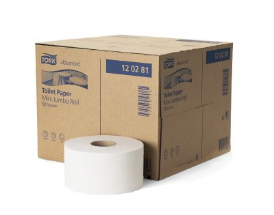 Tork Papier Toilette Mini Jumbo 2 plis Blanc T2 Advanced 12 x 1
